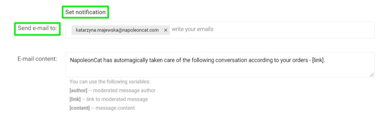 Set notification button