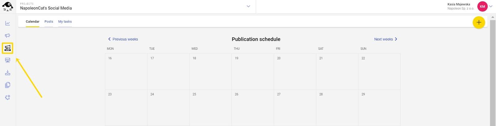scheduler button